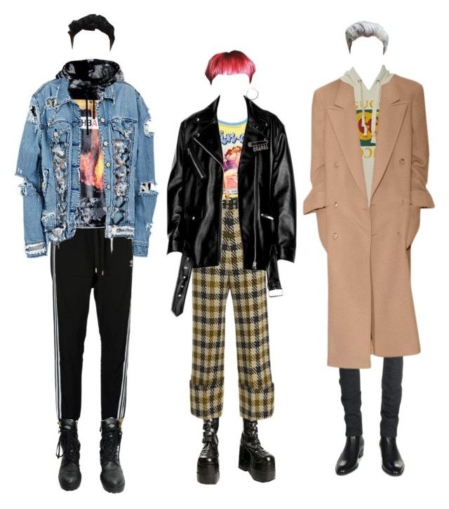 """소년"" by honjo ❤ liked on Polyvore featuring Demonia, Sea, New York, Miss Selfridge, Yves Saint Laurent, Gucci, adidas Originals, Hood by Air, Chanel, BOY London and Fad Treasures"