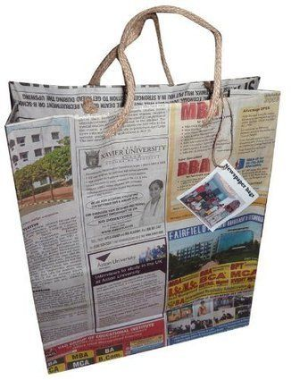Recycled Newspaper Bags  So need to do this instead of buying gift bags!!!!!