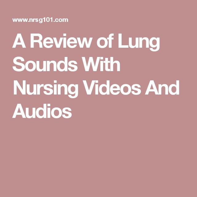 A Review of Lung Sounds With Nursing Videos And Audios