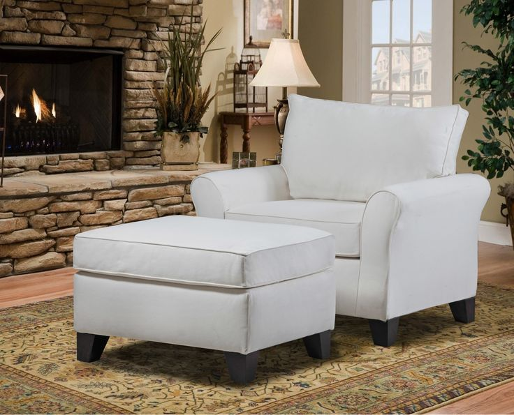 Carolina Accents Belle Meade Arm Chair And Ottoman Set