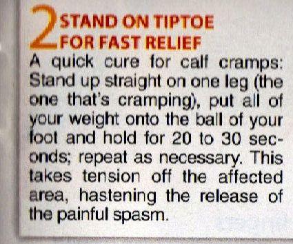 Calf cramp relief