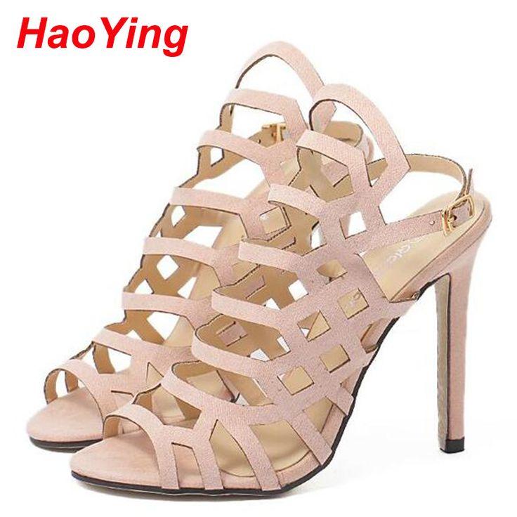 Aliexpress.com: Comprar Sandalias de gladiador de los altos talones mujer 2016 zapatos del verano sandalias de tiras Sexy Peep Toe mujeres bombas botas sandalias del tobillo D555 de zapatos increíble fiable proveedores en HaoYing shoe's Factory