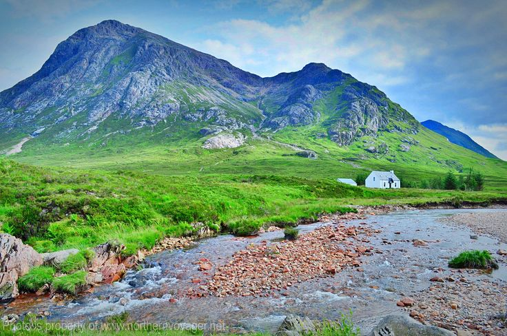 Glencoe Scotland Highlander Scottish Highlands Heather Mountains Stream Travel Photography Image Nature Beautiful Relax www.northernvoyager.net Photo by Lee Mailer