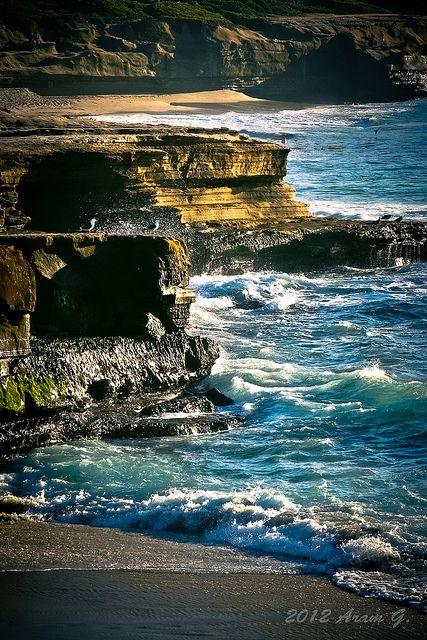 La Jolla, California - the Pacific Ocean...