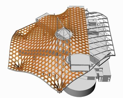 Computer aided modelling was essential in designing the roof structure and engineering details