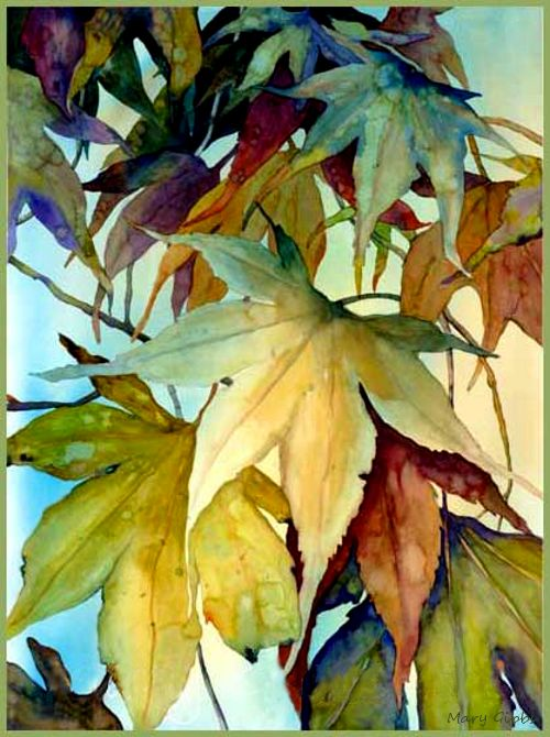 Simple Wallpapers Colors Fall Painting By Mary Gibbs Fall Gods Painting Seasen Art