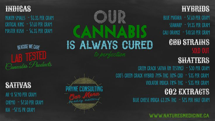 The Knowledgeable Cannabis Dispensary, Payne Consulting... Now Delivers Canada Wide! Free Shipping for Orders over $250