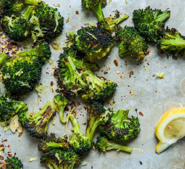Pečená křupavá brokolice s česnekem a citronem