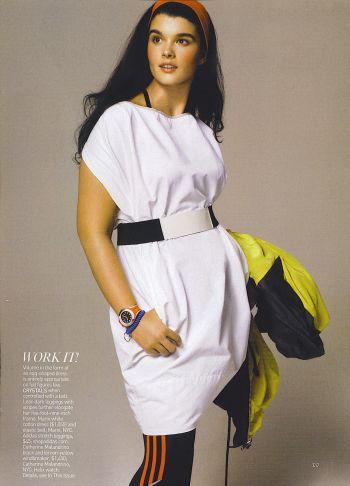US Vogue Issue: April 2007 Title: Be A Sport Photographer: Steven Meisel Model(s): Hilary Rhoda & Crystal Renn