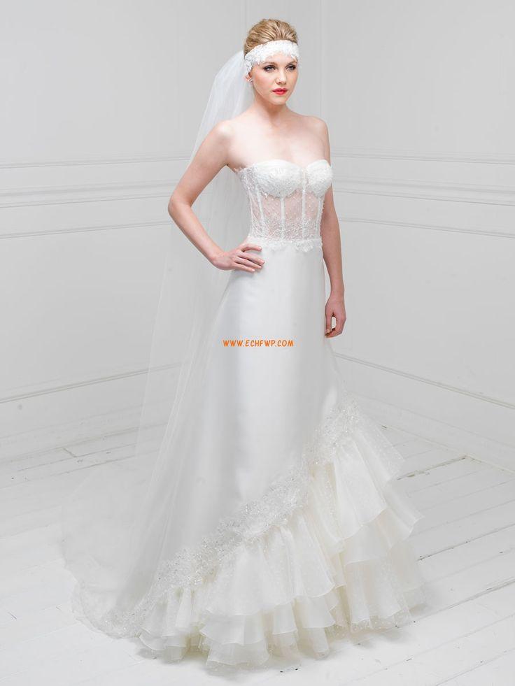Sommer Crystal detailliert Natürlich Brautkleider 2014