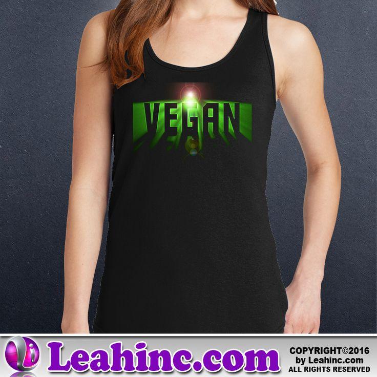 Vegan, Vegetarian, Causes, Men's, Ladies, Shirts, Tanks, Space Vegan
