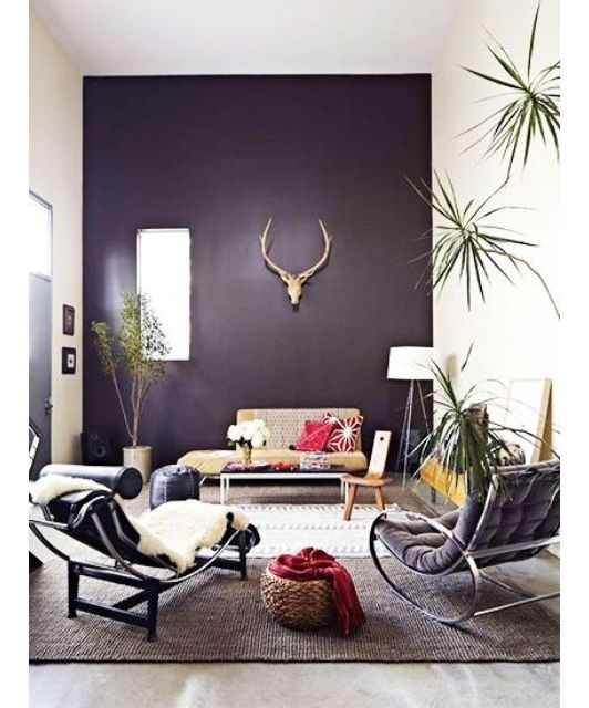 4194 best lovely living rooms images on pinterest family rooms home ideas and interiors Purple accent wall in living room