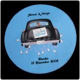 Printed Round Rubber coaster.            For great wedding Favours or personalised gifts for any occasion see our supplier www.onlinegiftshop.co.za featuring on www.weddingangeldirectory.co.za in South Africa