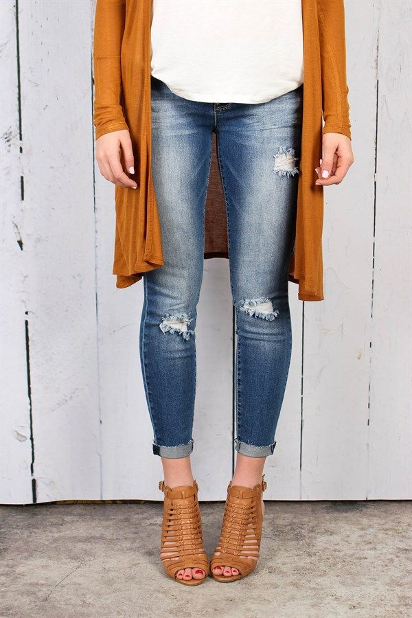 Distressed Jeans | 4 Styles