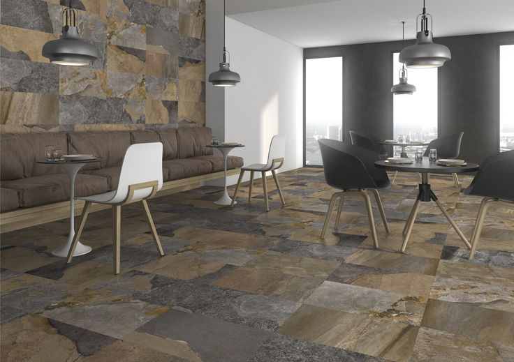 High quality wall and floor tiles that replicate the look of slate. The Canada range of tiles have typical slate-dimensional ridges to further enhance the look of natural stone and are also very hard wearing making them suitable for a range of applications including bathrooms, kitchens and commercial use. #MaximTiles