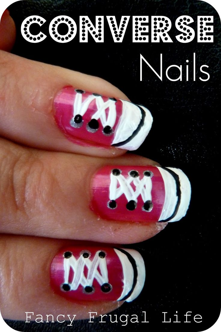 DIY Converse Nails - how stinkin' cute!!