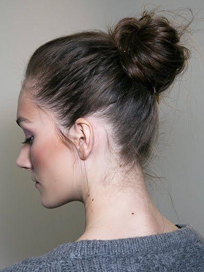 peinados ballerina bun