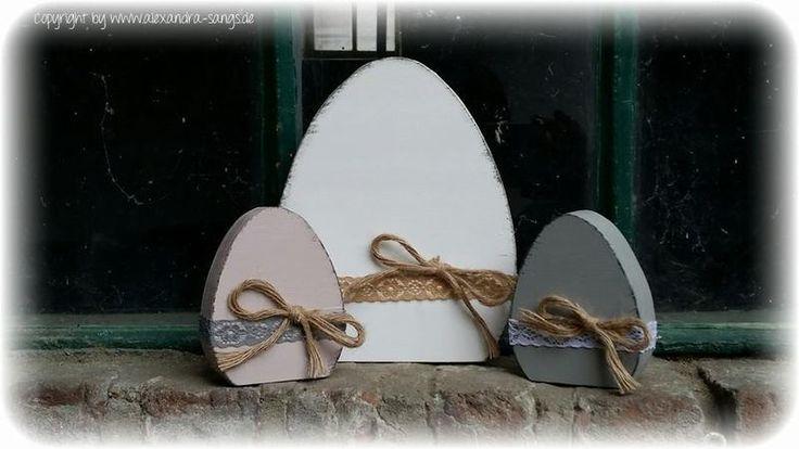 Ei, Eier, Osterei, Ostereier Holz, selbststehend von Handgemachte Holzarbeiten & dekorative Geschenke by Alexandra Sangs auf DaWanda.com