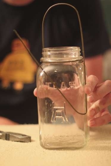 Mason Jar Chandeliers! How to make your own with old coat hangers