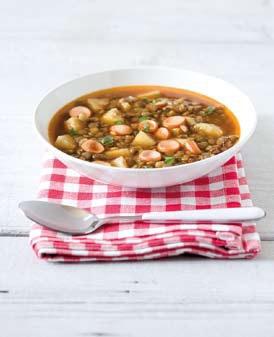 Čočková polévka s párkem (www.albert.cz/recepty)