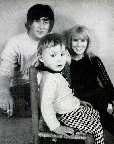 John, Cynthia i Julian Lennon