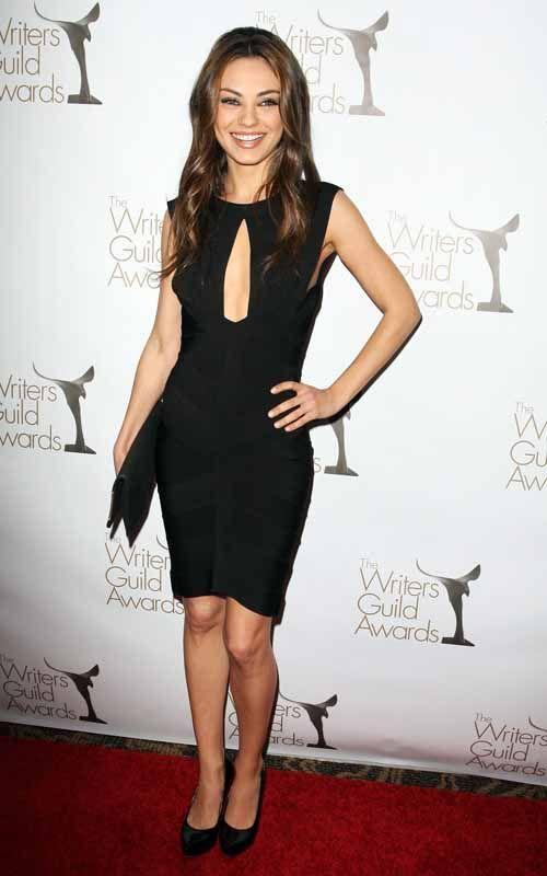 Mila Kunis. Sexy black dress.