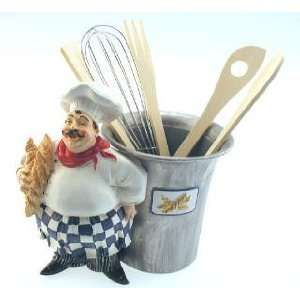italian chef kitchen decor items | French Italian Chef Kitchen Paper Towel Stand Decor: Home & Kitchen