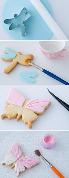 How to decorate cookies with rolled fondant (Cake Journal). via #TheCookieCutterCompany