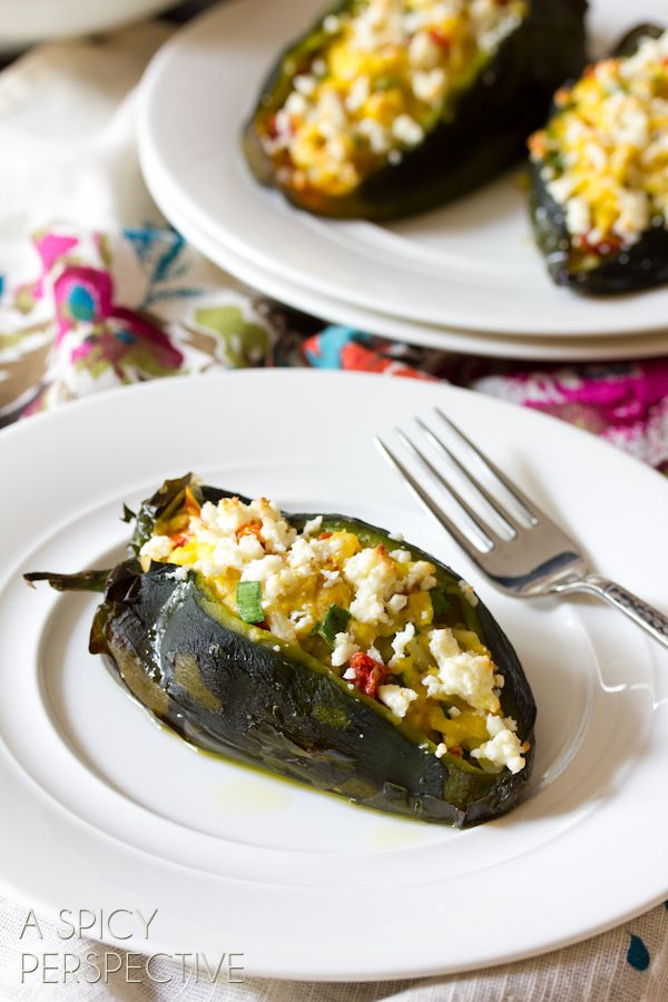 Breakfast Stuffed Poblano Peppers