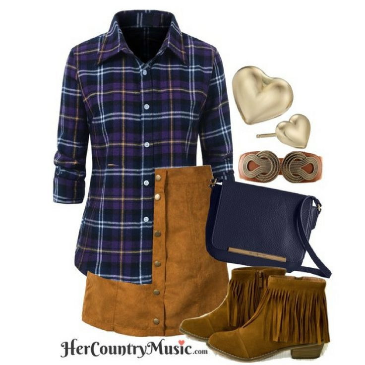 Country Outfit Fall Trend Fall Shop the look at http://HerCountryMusic.com
