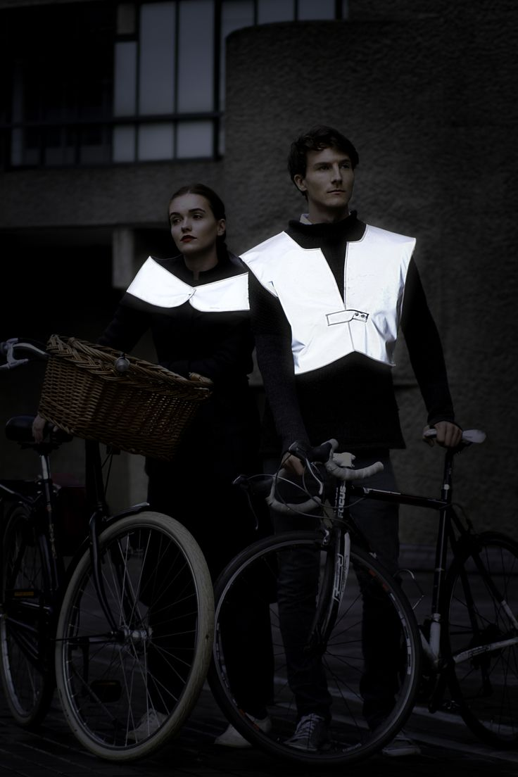 reflective cycle accessories for stylish cycling- glowing in the dark by up to 100 meters