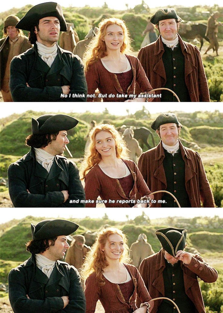"""""""No I think not. But do take my assistant and make sure he reports back to me"""" - Demelza, Ross and Henshawe #Poldark"""