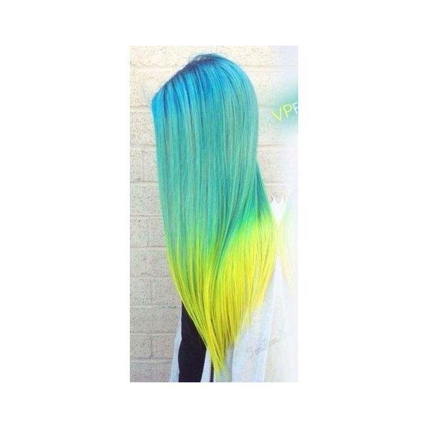 Ένα αφιέρωμα στα κίτρινα και μαύρα μαλλιά! ❤ liked on Polyvore featuring hair