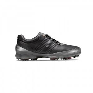 Ecco Biom Golf Cleats Mens Black Leather - ONLY $234.99