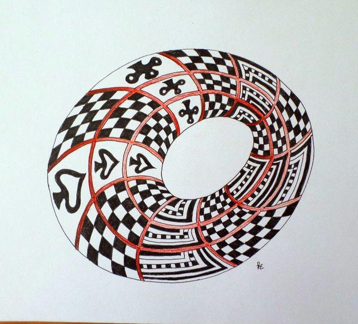 Zentangle in 3D. made of Erika Székesvári. More pictures https://www.facebook.com/ercziart/