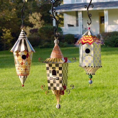 MacKenzie-Childs - luv these bird houses