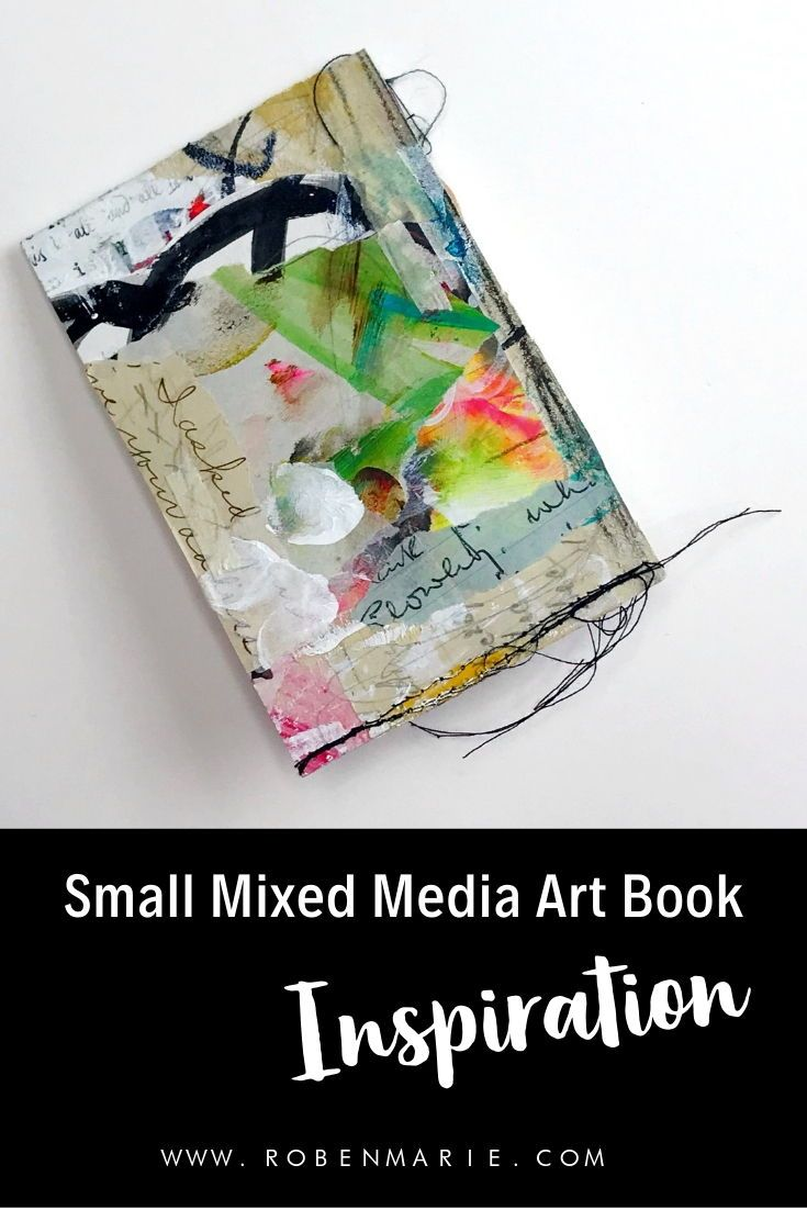 Small Mixed Media Art And Scrap Paper Books Made In The Booklet
