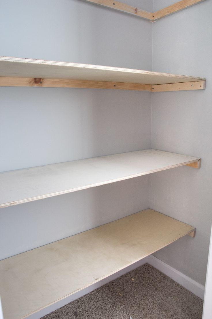 Basic DIY Closet Shelving | New project | Pinterest | Closet ...