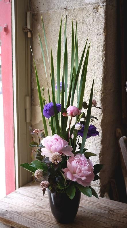 Les 25 meilleures id es de la cat gorie composition for Lisianthus art floral