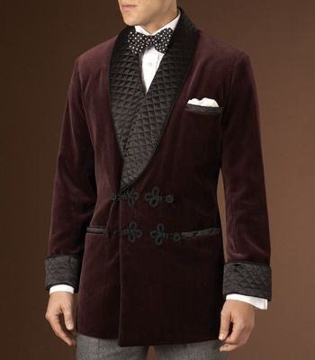 Paul Stuart smoking jacket