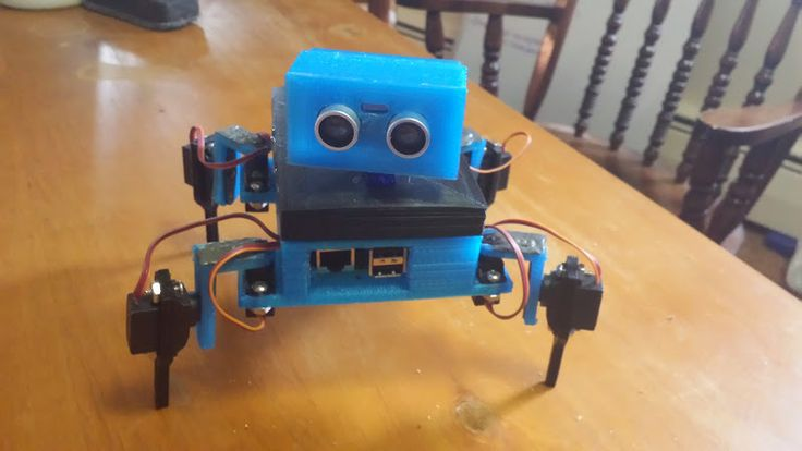 Gizmo, the 3d-printed,4-legged robot by Nrrillinthas.