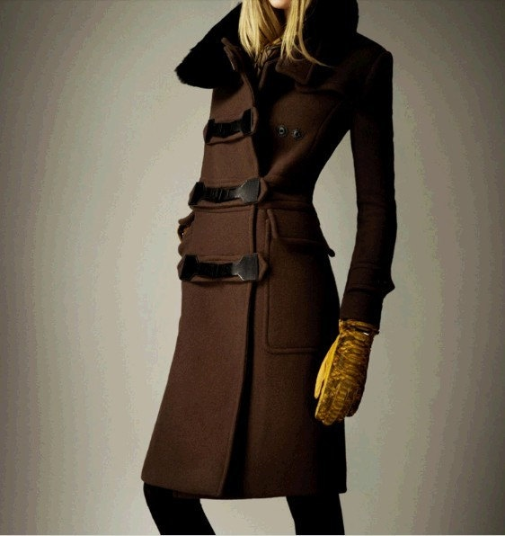 Women Coat Winter Coat Brown Coat Long Wool Coat by colorfulday01
