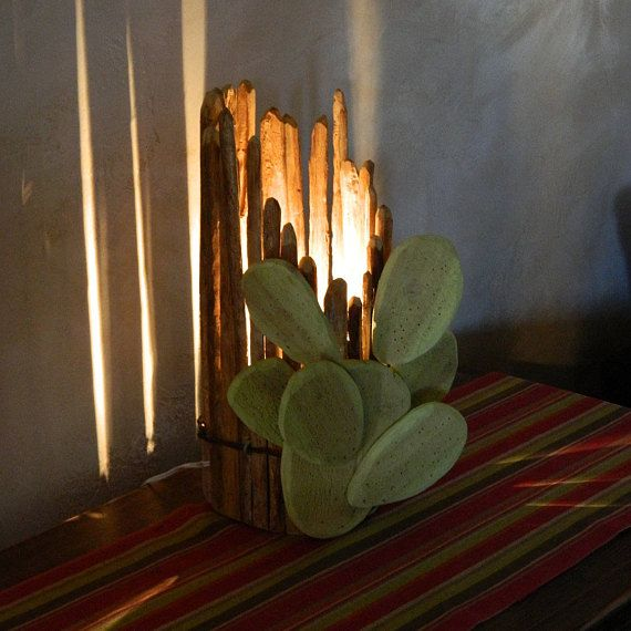 """Featured: Home Decor Lamp - Prickly Pear - Saguaro Rib Table Lamp. As for capturing the ambience of Southwestern Sonoran Desert lifestyle, you now can do so with your own exclusively designed """"Prickly Pear-Saguaro Rib Table Lamp"""". This truly unique exceptionally simple Desk-Table lamp"""