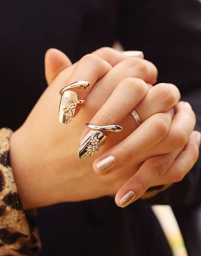 Exquisite Cute Retro Queen Dragonfly Design Rhinestone Plum Snake Gold/Silver Ring Finger Nail Rings Band Rings Jewelry Ring Finger Ring Emerald Engagement Rings 1 Carat Diamond Ring From Worldfashionoutlet, $1.11| Dhgate.Com