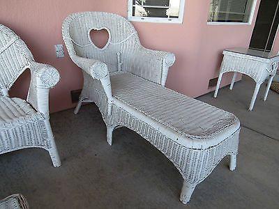 17 best ideas about white wicker on pinterest white wicker furniture white wicker patio - Chaise daling ...