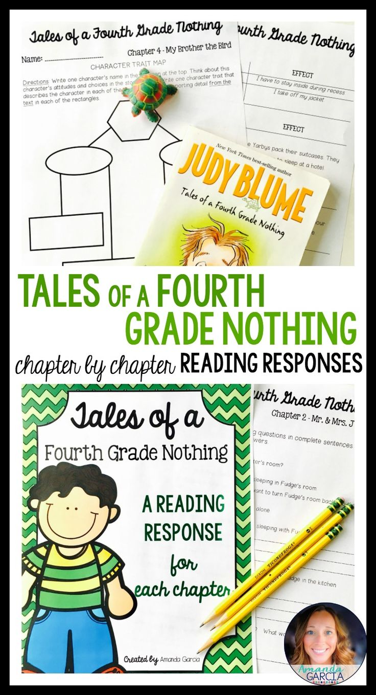 This best-selling unit gives your readers fun, Common Core aligned reading responses for every chapter of Tales of a Fourth Grade Nothing! These activities are fun for students and perfect for book clubs, literature circles, guided reading, and independent reading.