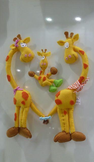 Hart van giraffen Kijk voor vilt eens op http://www.bijviltenzo.nl