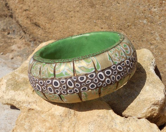 Bracciale donna rigido in pasta polimerica fatto a mano di LuaNuu