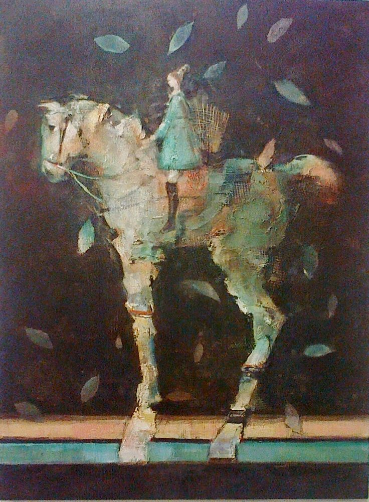 Pascale Chandler. Themed show title: Winter is coming. Work Title: Night Flight after The Harvest. Equus Gallery