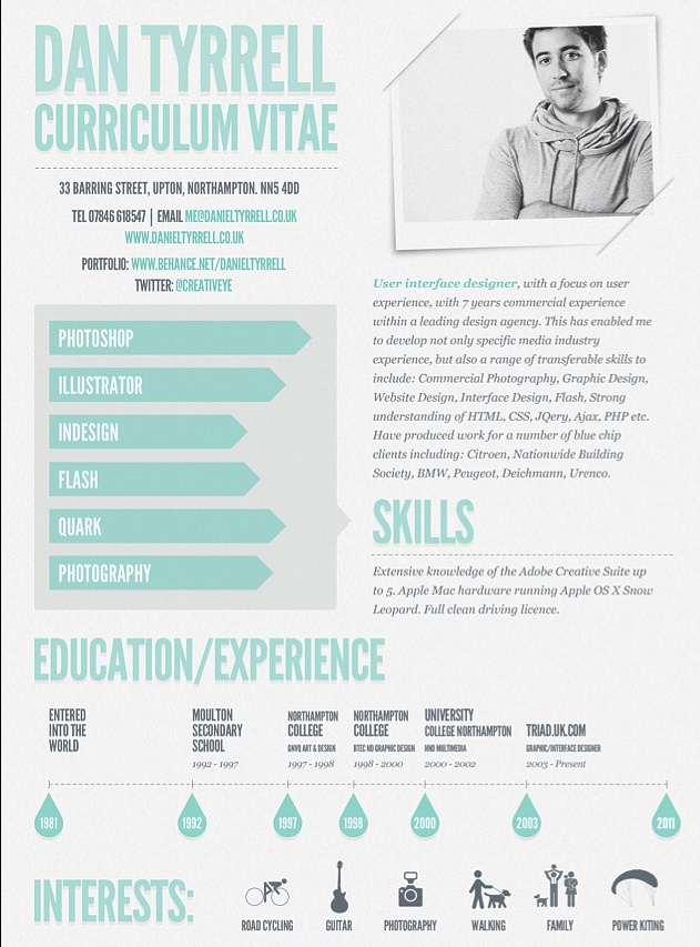 creative resume curriculum vitae resume design infographic resume